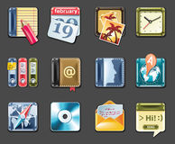 Vector universal square icons. Part 1 (gray) Stock Photo