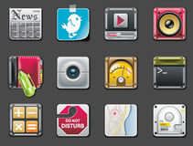 Vector universal square icons. Part 2 (gray) Royalty Free Stock Image