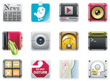 Vector universal square icons. Part 2 (white) royalty free illustration