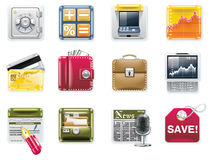 Vector universal square icons. Part 6. Banking Royalty Free Stock Images