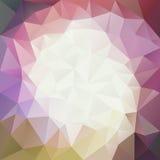 Vector unregelmäßigen Polygonhintergrund mit einem Dreieckmuster in den Beleuchtungsfarben in der Mitte Lizenzfreie Stockbilder