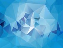 Vector unregelmäßigen Polygonhintergrund mit einem Dreieckmuster in der hellen Himmelblaufarbe lizenzfreie stockfotos