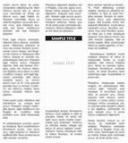 Vector unsharp newspaper Stock Images