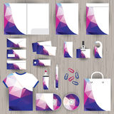 Vector Unternehmensidentitä5, das Dreieckmusterdesign, geometrisch Stockfotografie