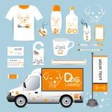 Vector Unternehmenssymboltier der Identität, das Logo, geometrisch, backgr stock abbildung
