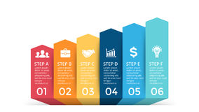 Vector up arrows infographic, progress diagram chart, stairs graph presentation. Stock Photo