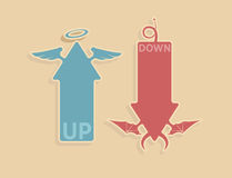 Vector up and down arrows Royalty Free Stock Images