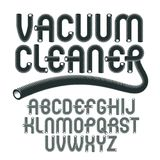 Vector upper case modern alphabet letters set. Funky rounded fon. T, typescript for use in logo creation. Created with hosepipe style, plumbing Royalty Free Stock Photos
