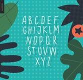 Vector uppercase alphabet 4 Stock Photos