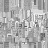 Vector urban architecture seamless pattern Stock Photo