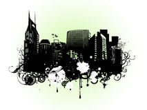 Vector of urban  city on white background Stock Photo