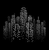 Vector Urban Cityscape Silhouette Illustration Stock Images