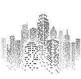 Vector Urban Cityscape Silhouette Illustration Stock Photography