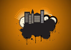Vector urban grunge design Stock Photos