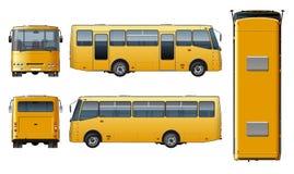 Vector urban passenger mini-bus mock-up Royalty Free Stock Photography