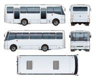 Vector urban passenger mini-bus mock-up Stock Photos