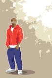 Vector urban poster. (man on light background Royalty Free Stock Photography