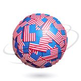 Vector US flags sphere Royalty Free Stock Image