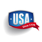 Vector USA badge - poster. Vector United States of America badge / poster Royalty Free Stock Image
