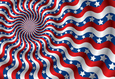 Vector USA flag abstraction(CMYK) Stock Images