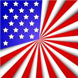 Vector usa flag background. Eps10 Royalty Free Stock Images