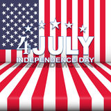 Vector USA Independence Day background with stars and stripes. 4th of July festive design. Royalty Free Stock Photography
