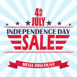 Vector USA Independence Day sale background. Design template for 4th of July sale. Stock Photography