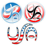 Vector USA labels Stock Photography