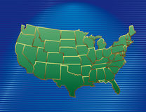 Vector USA map Royalty Free Stock Photography