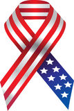 Vector USA ribbon. Isolated on white background Stock Photography