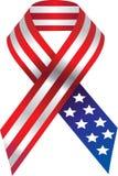 Vector USA ribbon Stock Photography