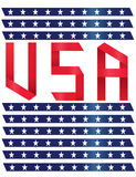 Vector - USA text design with Flag Background Stock Photography