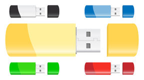 Vector USB Flash Drives Royalty Free Stock Image