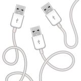 Vector usb plugs Royalty Free Stock Photography