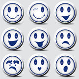 Smiley set Royalty Free Stock Photos