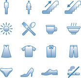 Vector useful Icons Set - Shopping center Royalty Free Stock Photography
