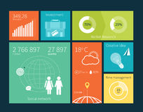 Vector user interface infographic template Stock Photography