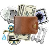 Vector Utilities Payments Concept Royalty Free Stock Photo