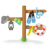 Vector Vacation Pointer Stock Images