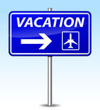 Vector vacation sign Royalty Free Stock Photos