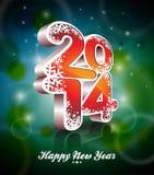 Vector vagabundos coloridos da celebração do ano novo feliz 2014 Foto de Stock