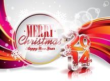 Vector vagabundos coloridos da celebração do ano novo feliz 2014 Fotografia de Stock