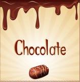 Vector vakantieachtergrond met chocoladesuikergoed Stock Afbeelding