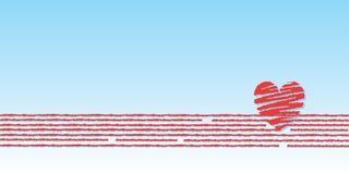 Vector, valentijnskaart, decoratie, ornament, bloemblaadje, liefde, illustrati stock illustratie
