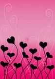 Vector valentijnskaartachtergrond Royalty-vrije Stock Afbeeldingen