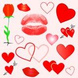 Vector valentijnskaartelementen Royalty-vrije Stock Afbeelding