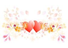 Vector valentijnskaartharten Royalty-vrije Stock Foto's