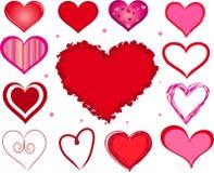 Vector valentijnskaartharten Royalty-vrije Stock Afbeelding
