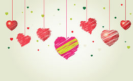 Vector valentine background. Clean style , good for card design royalty free illustration