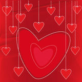 Vector valentine background. With big red heart Royalty Free Stock Images